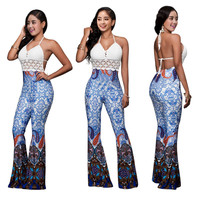 White Crochet Tops and Thai Pants Set