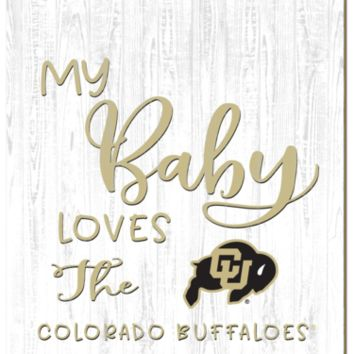 Colorado Buffaloes | My Baby Loves | Sign | Wood | Rope Hanger | NCAA