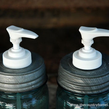 DIY Authentic Zinc Mason Jar Soap Dispenser Lids - Set of 2
