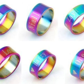 One Direction Rainbow Rings