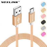 Micro USB Cable VOXLINK Nylon Braided Data Sync Charger usb cable for Samsung Galaxy S7 S6 S5 S4 Sony HTC Xiaomi Huawei & more
