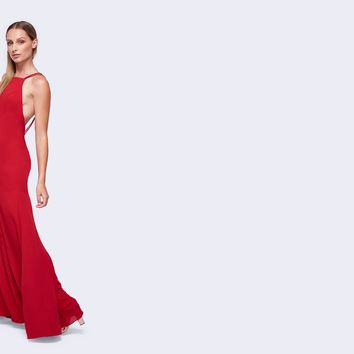 Cherry Red Leo Dress | Fame & Partners USA
