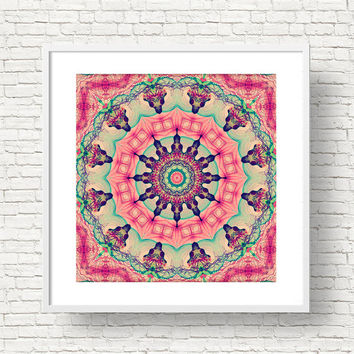 Buddhist Mandala Art Print - 12x12 Boho Style Wall Art, Instant Download | Spiritual Decor by Mila Tovar