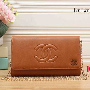Chanel 2018 latest fashionable women's trend leather wallet F-KR-PJ brown
