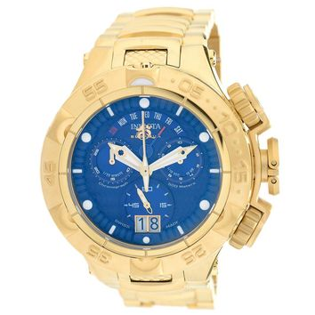 Invicta 17626 Men's Subaqua Noma V Blue Dial Yellow Gold Steel Bracelet Chronograph Dive Watch