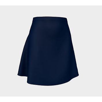 Solid Flare Skirt - Navy