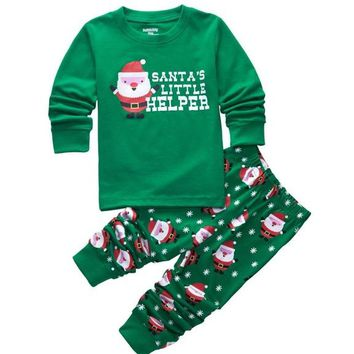 Christmas Santa's Helper Pajama Set