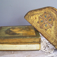 vintage wall shelf gold florentine design by KatyBitsandPieces