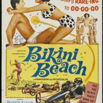 Bikini Beach Frankie Avalon Vintage Movie Poster