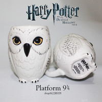 Harry Potter mug night owl hooted hathawa mugs morphing coffee cup novelty white color  Tea Cups present for fun of harry potter
