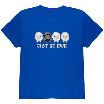 Just Be You Ewe Black Sheep Youth T Shirt