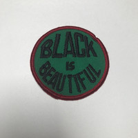 Black is Beautiful Vintage Patch Embroidered Iron-on Vintage Clothing Patch Jacket Patch Vest Patch