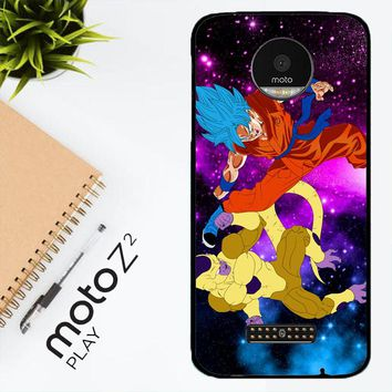Gold Frieza Vs Goku Super Saiyan God Z2615 Motorola Moto Z2 Play Case