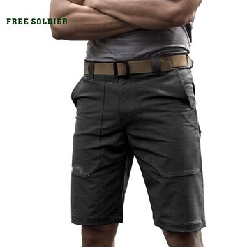 Outdoor tactical thin and soft shell shorts Men's summer elastic and waterproof loose fifth short pants