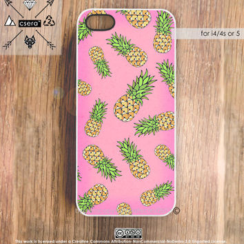 Pineapple iPhone 5 Case Fruit iPhone 4 & 4S Case by casesbycsera