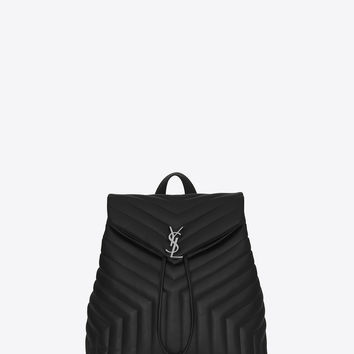 SAINT LAURENT MEDIUM MONOGRAM SAINT LAURENT BACKPACK IN BLACK | YSL.COM