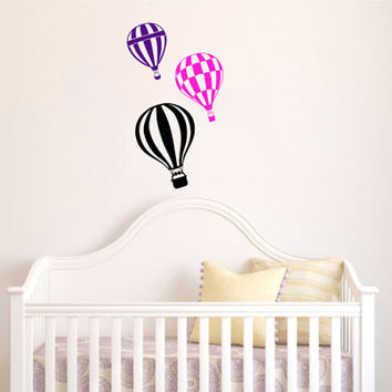Housewares Hot air Balloons Wall Vinyl Decal Sticker Kids Nursery Baby Room Decor V285
