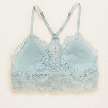 AERIE LACE PADDED TRIANGLE BRALETTE