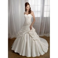 A-line Sweetheart Satin with Beading and Embroider Wedding Dress [TWL20110822001] - $188.99 :