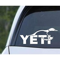Duck Yeti Hunting Die Cut Vinyl Decal Sticker