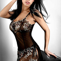 On Sale Cute Hot Deal Sexy Luxury Embroidery Dress Exotic Lingerie [6596684163]