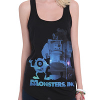 Disney Monsters, Inc. Scene Fill Girls Tank Top