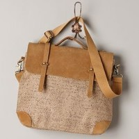Shimmered Jute Satchel by Jesslyn Blake Bronze One Size Bags