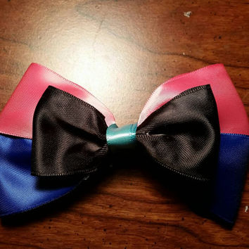 Disney's Frozen's Anna inspired handmade hair bow