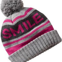 Women's Graphic Sweater-Knit Pom-Pom Hats