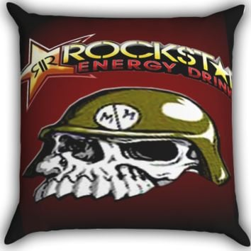 Rockstar Metal Mulisha Logo A0060 Zippered Pillows  Covers 16x16, 18x18, 20x20 Inches