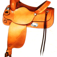 "Big Horn Leather Pleasure Saddle 15"", 16"" Seat"