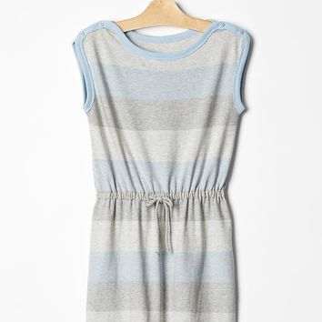 Tonal Stripe Jersey Dress