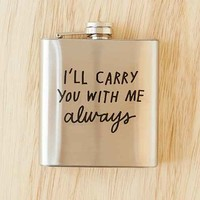 ADAMJK X UO Carry You Flask- Black One
