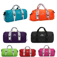 High Quality Unisex 210 Waterproof Nylon Large Capacity Ultralight Foldable Outdoor Gym Bag Sports Bags Travel Duffle Bags