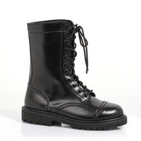 "Women's 1"" Ankle Combat Boot with Laces"