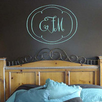 Monogram Design 0 Vinyl Decal Sticker Initials