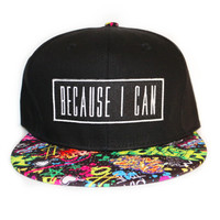 Black Graffiti Snapback