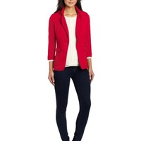 Bobi Women's Lightweight Terry Three-Quarter Sleeve Blazer