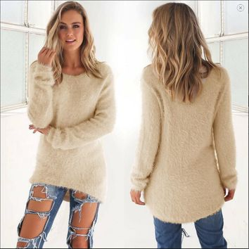 Women's Fashion Stylish Long Sleeve Tops Sweater [31067242522]