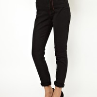 Maison Scotch Haute High Waisted Jeans in Black Book