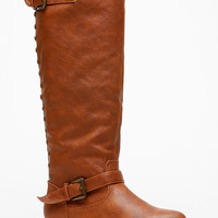 Bamboo Knee High Rider Chestnut Boots