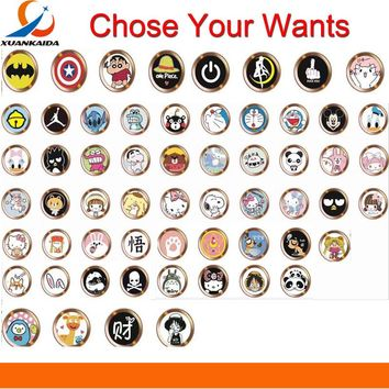 Cartoon cute Touch ID Home Button Sticker For iPhone 5 5S SE 6 6S 7 8 Plus For Ipad air 2 mini Fingerprint Identification Keypad