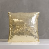"Festive Sparkle Pillow 16""x16"" Gold"