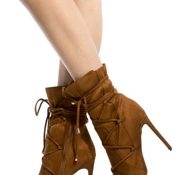 Chestnut Faux Suede Lace Up Pointed Toe Booties @ Cicihot. Booties spell style, so if you want to show what you're made of, pick up a pair. Have fun experimenting with all we have to offer!