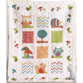 Woodland Baby Woodland Baby Crib Cover Stamped Cross Stitch Kit
