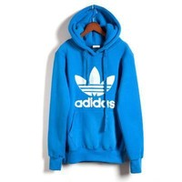 BLUE Womens Mens adidas Sweater Hoodie