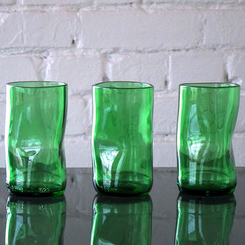 Green Upcup Recycled Glass Tumblers – Set of 3