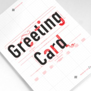 Typographical Greeting Card