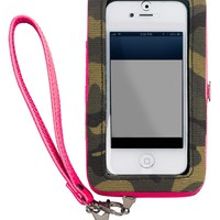 Material Girl iPhone 5 Case, Camo and Pink Wristlet - Material Girl - Handbags & Accessories - Macy's