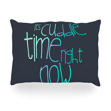 "Monika Strigel ""Cuddle Time Mint"" Oblong Pillow"